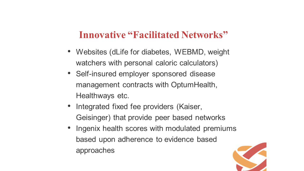 Innovative Facilitated Networks