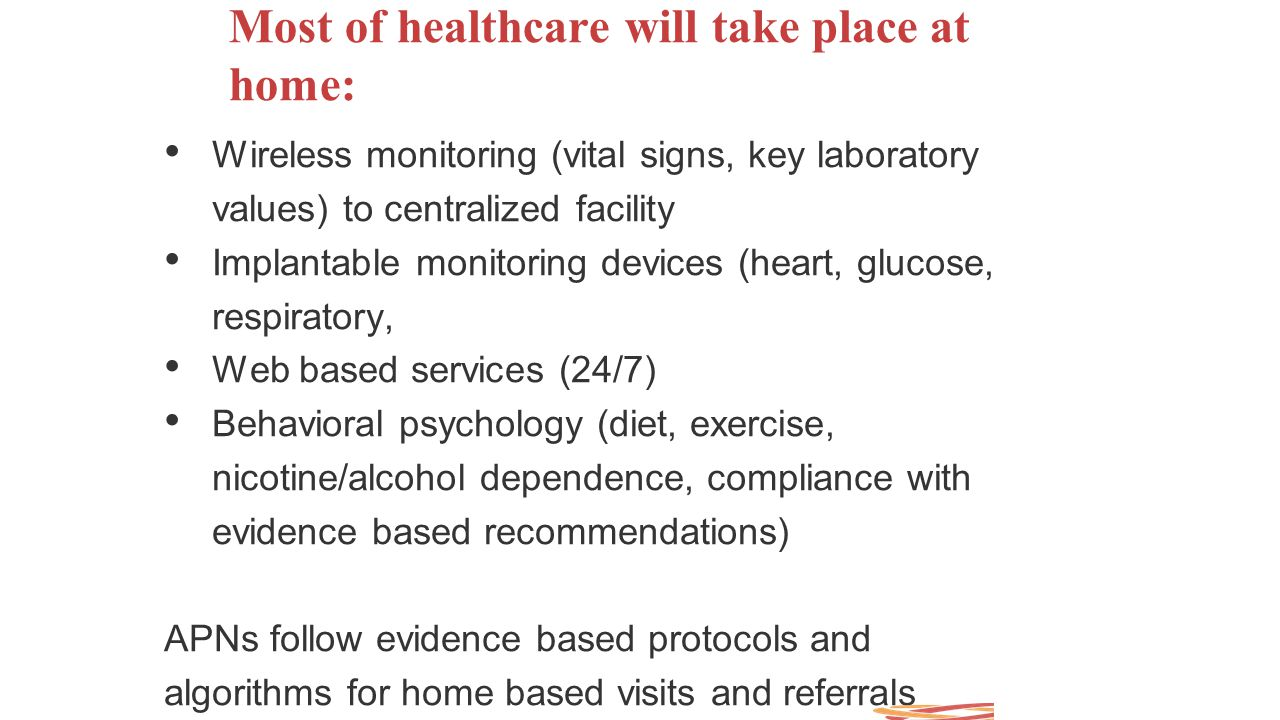 Most of healthcare will take place at home: