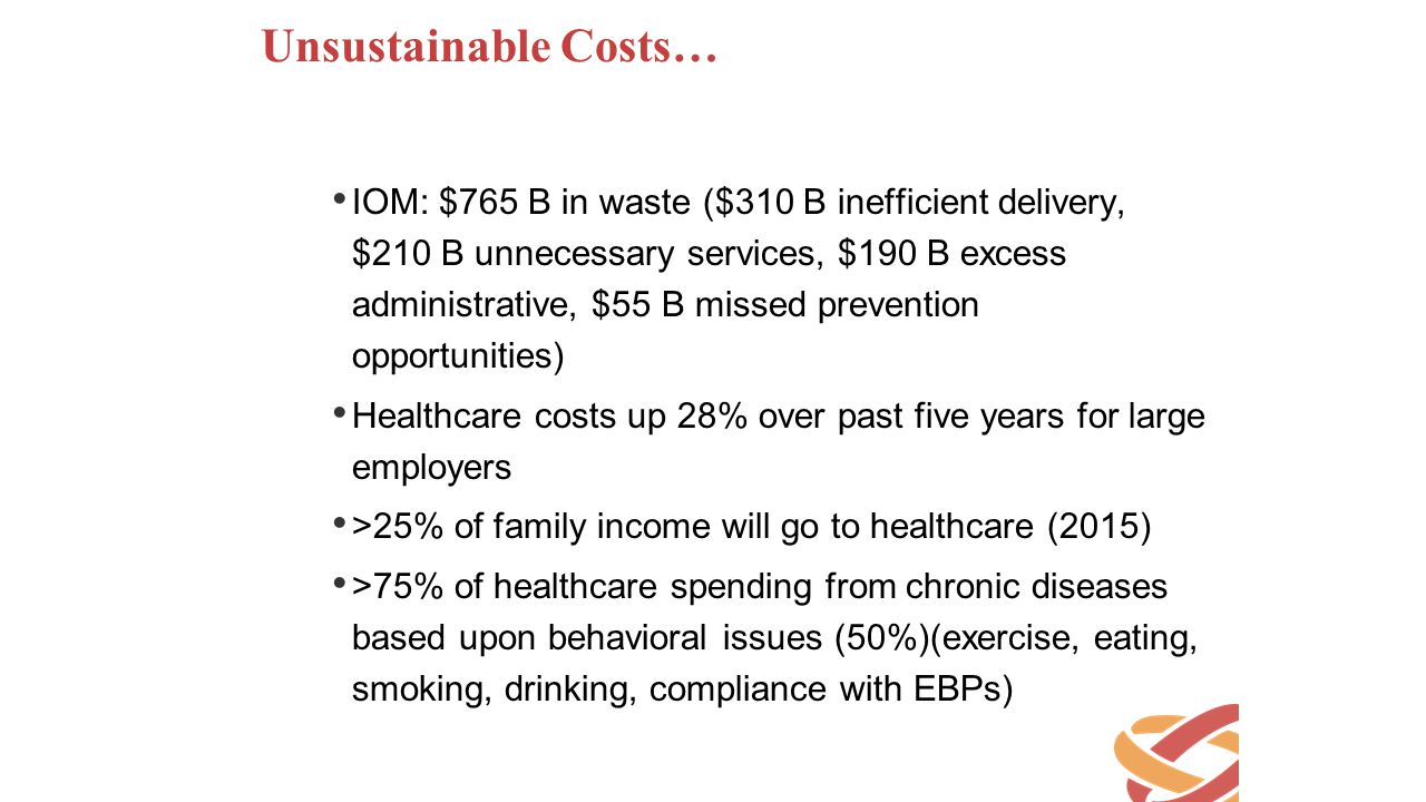 Unsustainable Costs…