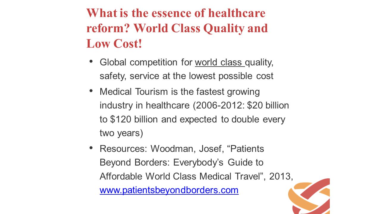 What is the essence of healthcare reform