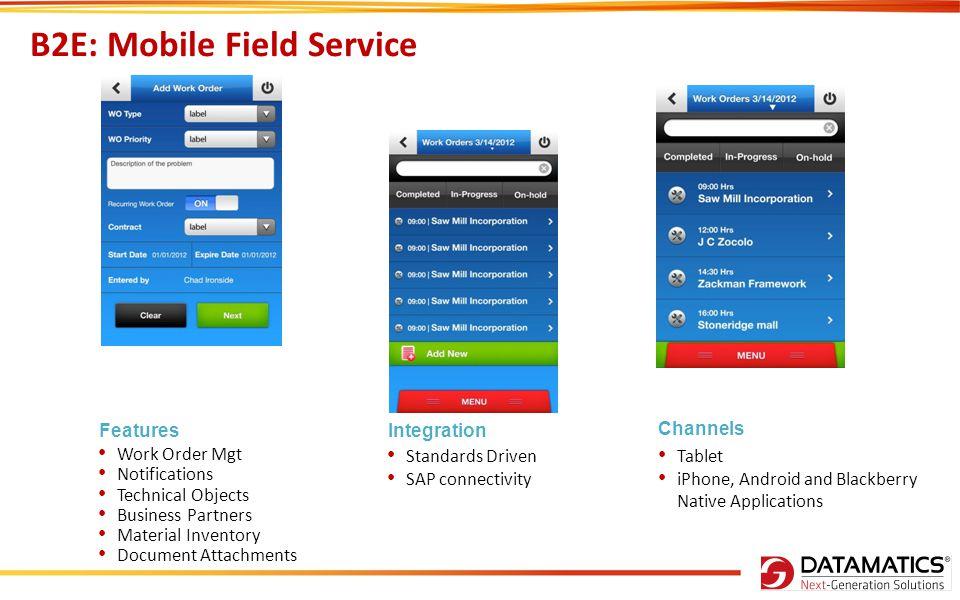 B2E: Mobile Field Service
