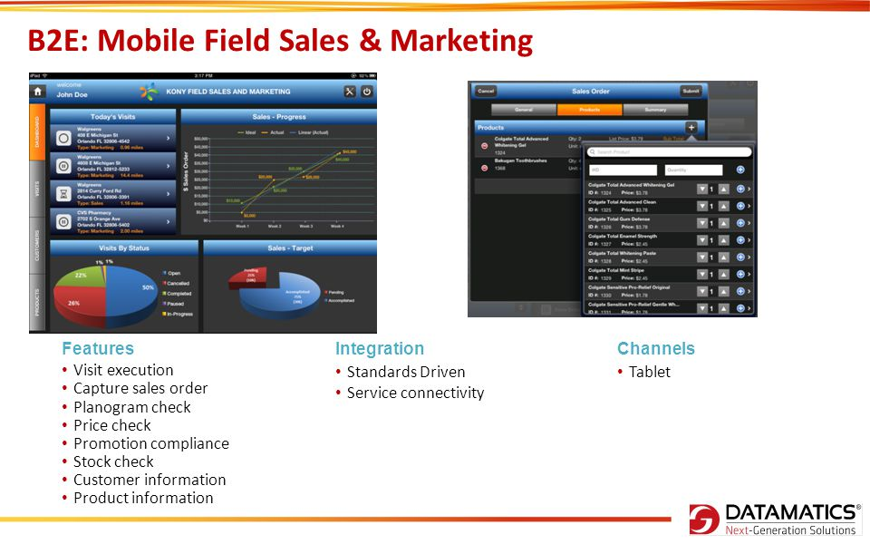 B2E: Mobile Field Sales & Marketing
