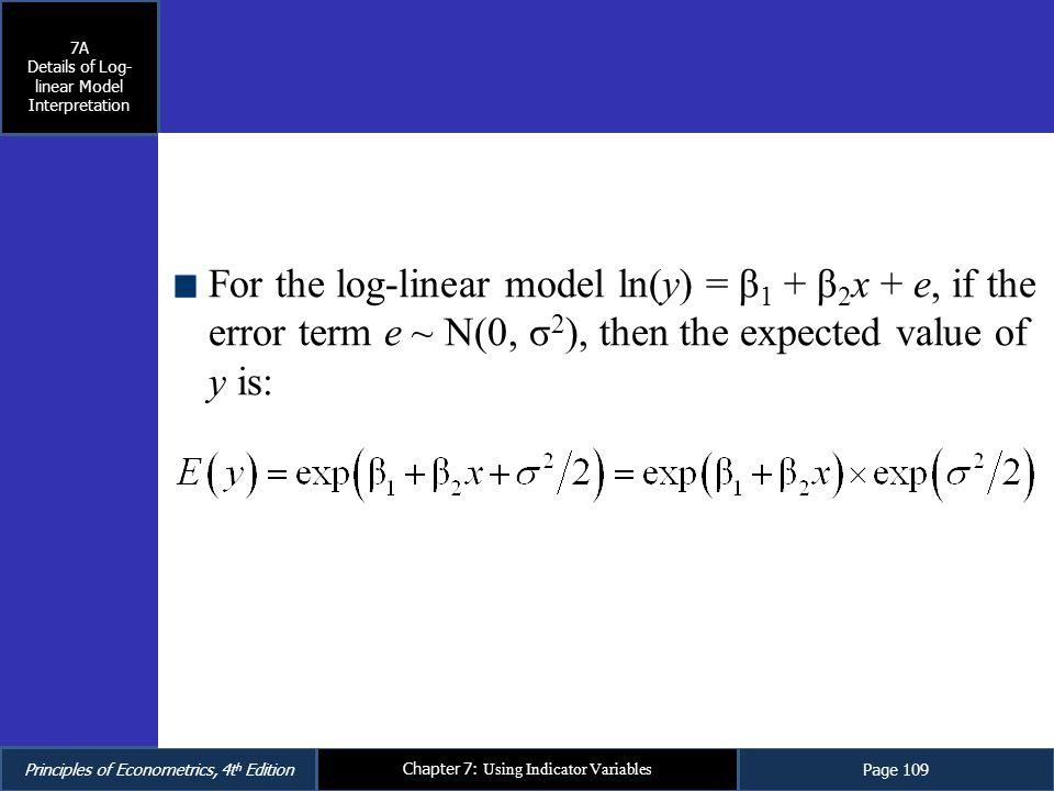 Details of Log-linear Model Interpretation