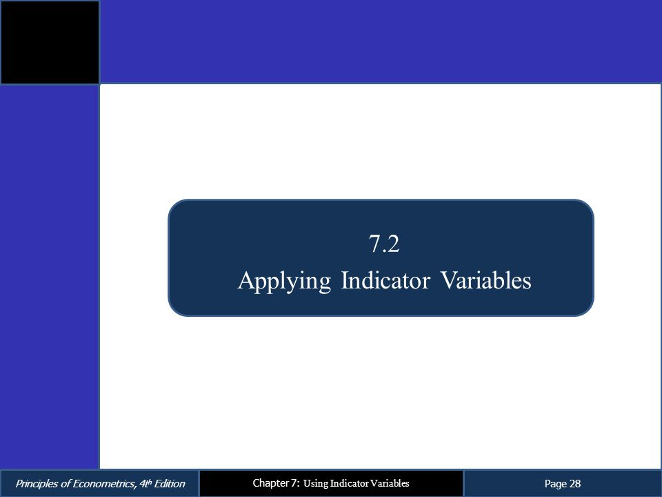 Applying Indicator Variables