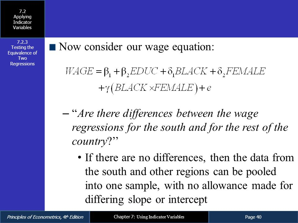 Now consider our wage equation: