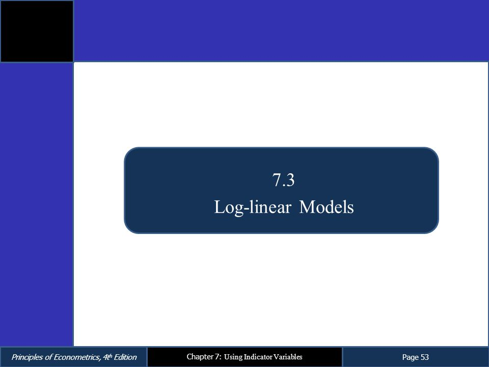 7.3 Log-linear Models