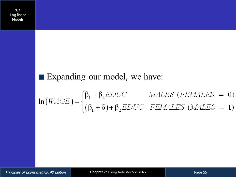 Expanding our model, we have: