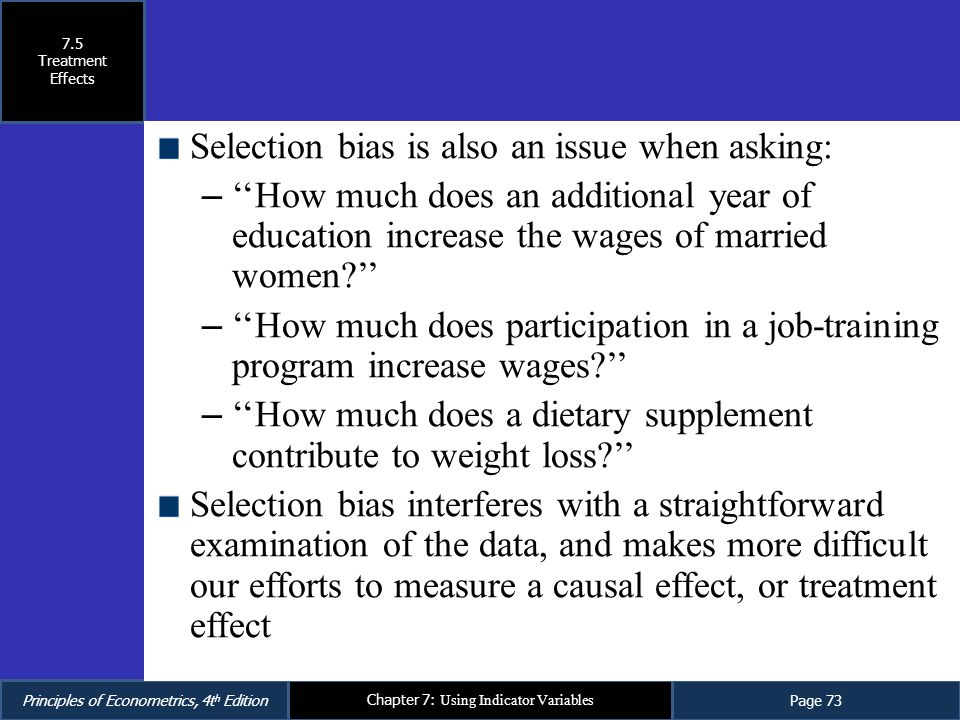 Selection bias is also an issue when asking: