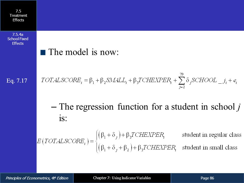 The regression function for a student in school j is: