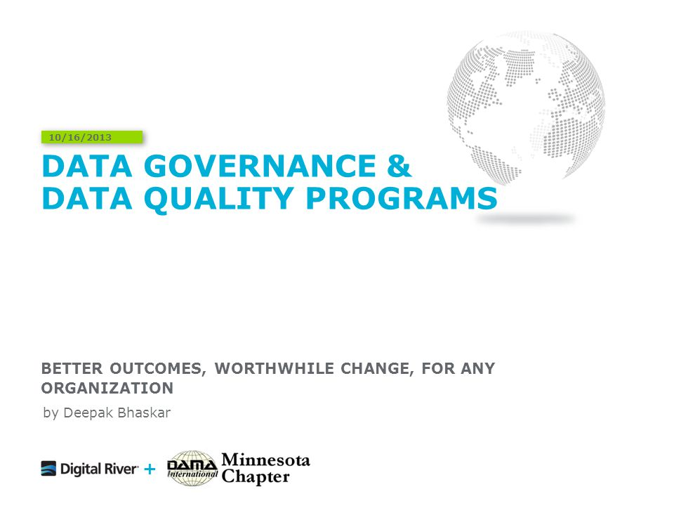 Data Governance & Data Quality Programs