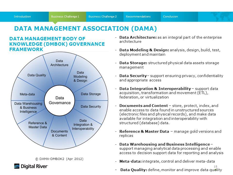 Data Management Association (DAMA)