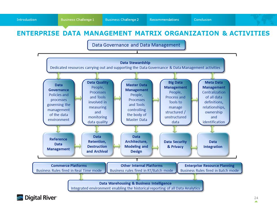 Enterprise Data Management Matrix Organization & Activities