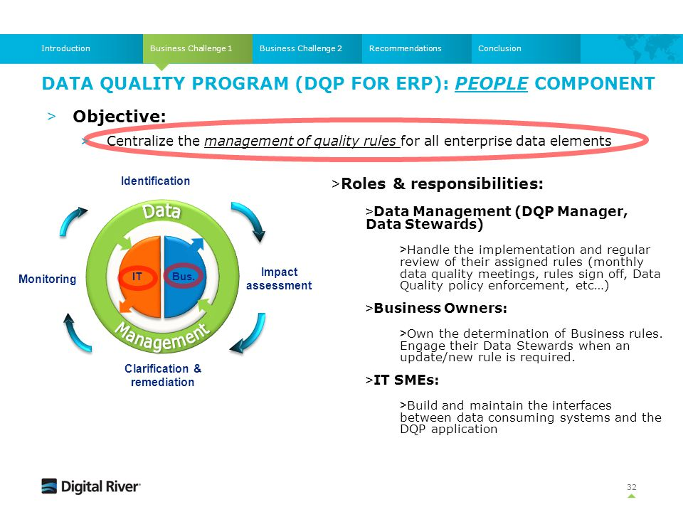 Data Quality Program (DQP for ERP): People component