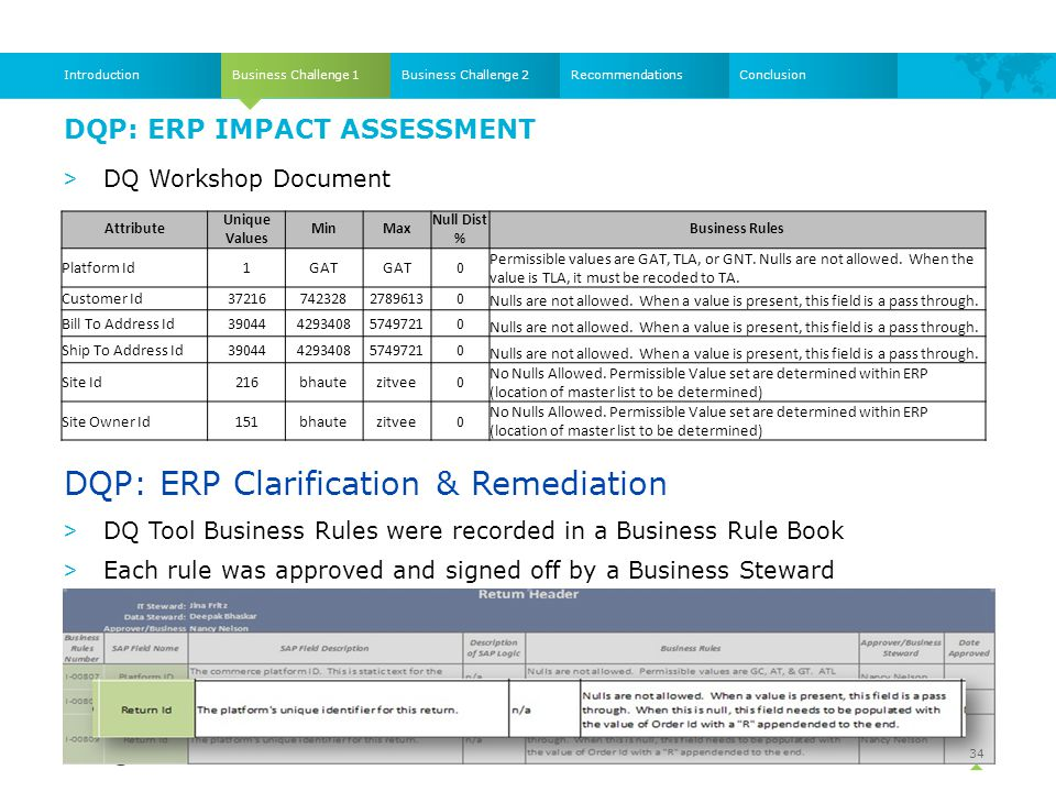 DQP: ERP Impact Assessment