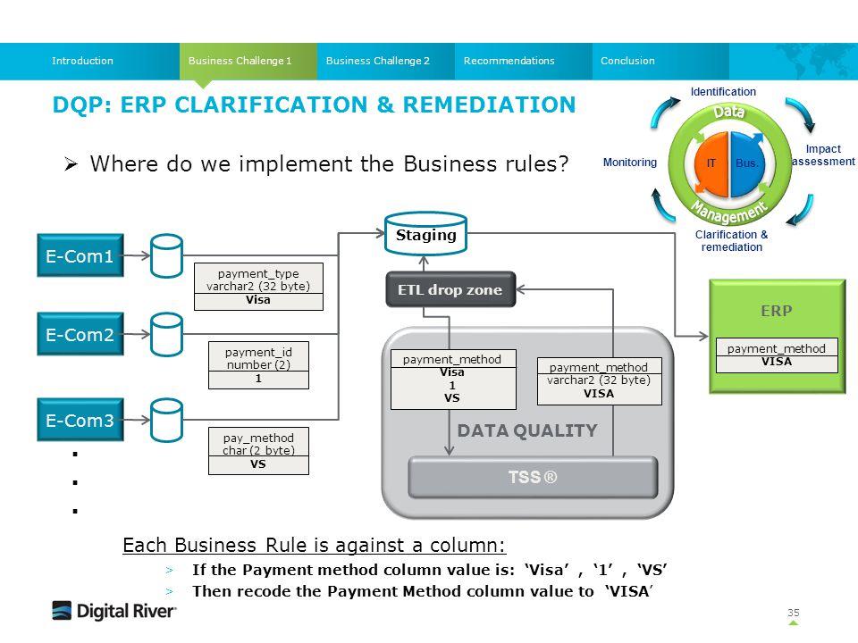 DQP: ERP Clarification & Remediation