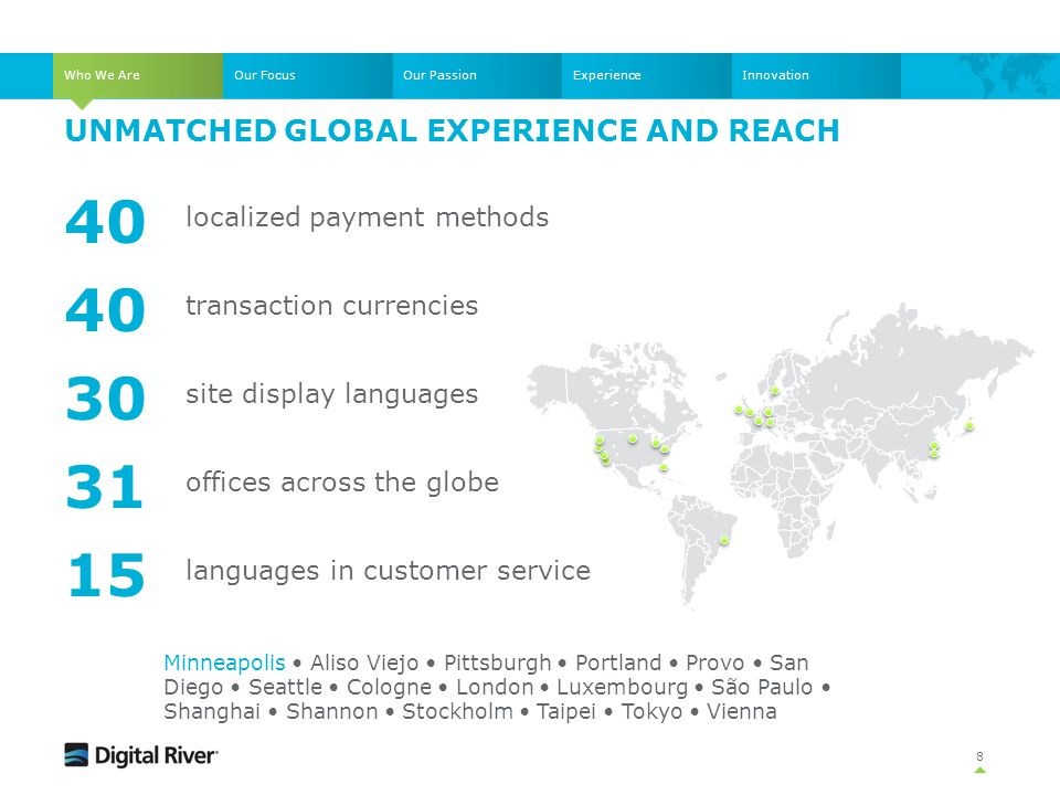 Unmatched global experience and reach