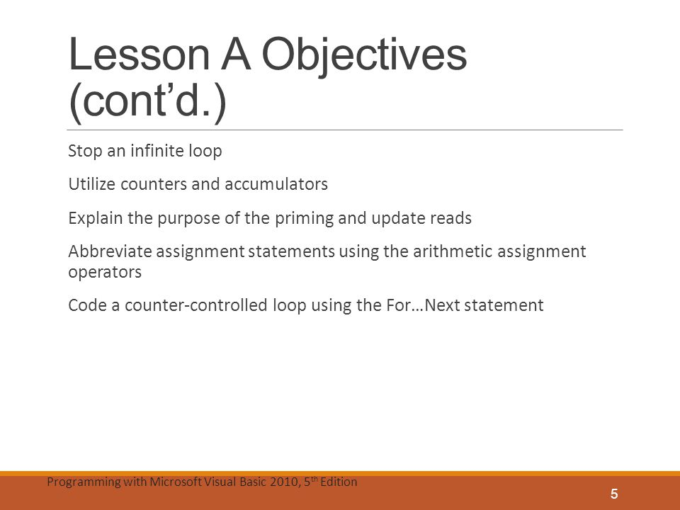 Lesson A Objectives (cont'd.)