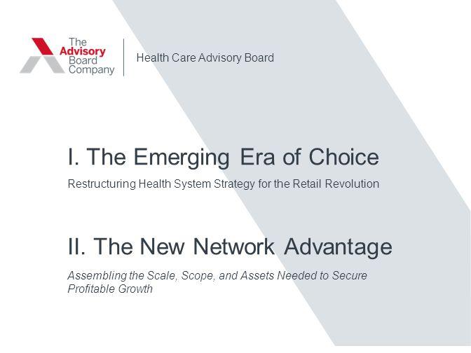 I. The Emerging Era of Choice