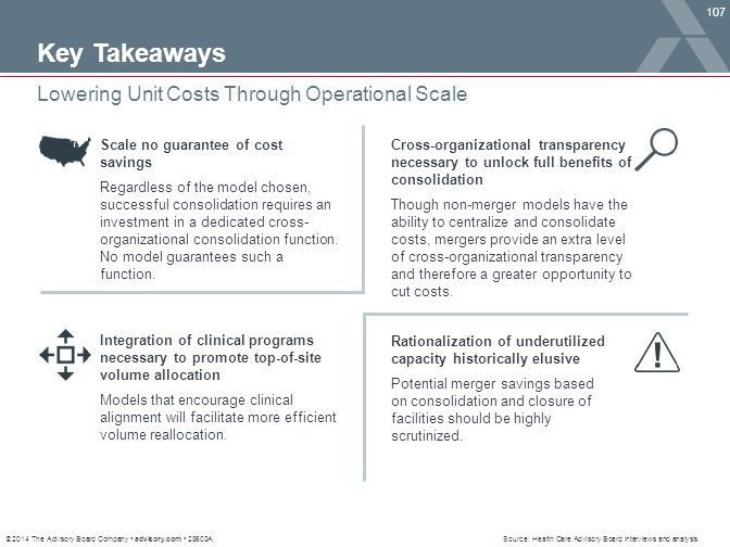 Key Takeaways Lowering Unit Costs Through Operational Scale