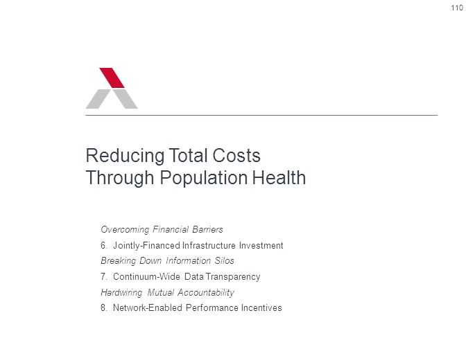 Reducing Total Costs Through Population Health