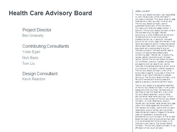 Health Care Advisory Board
