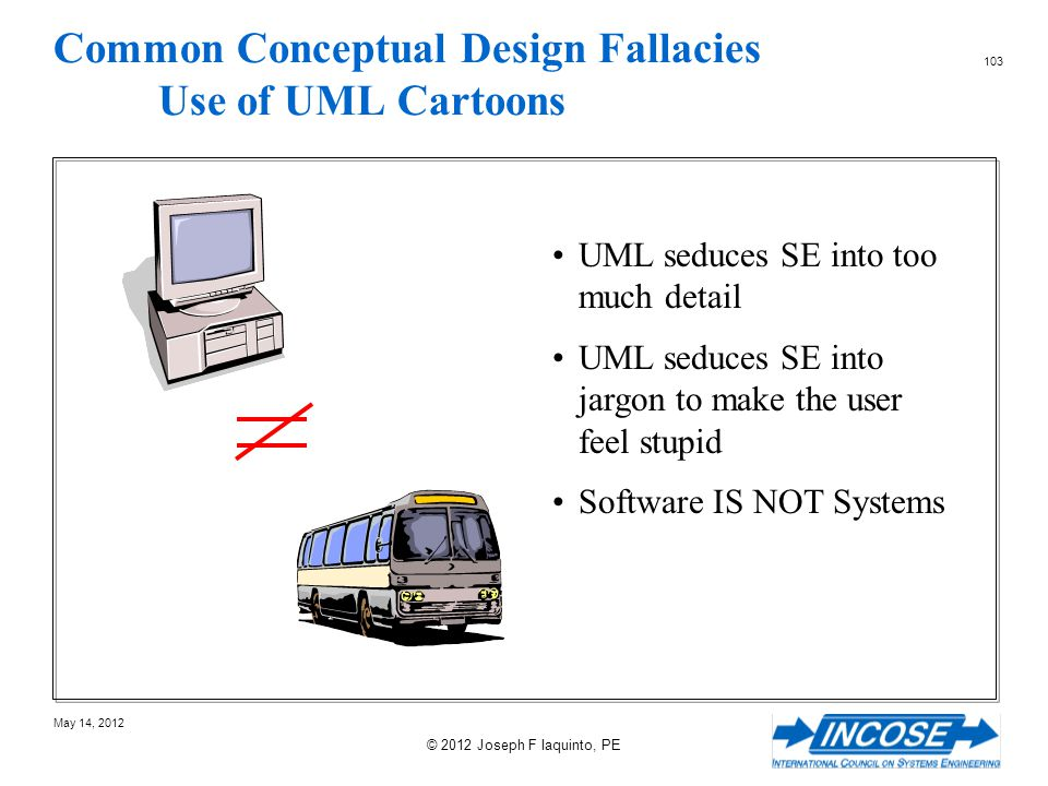 Common Conceptual Design Fallacies Use of UML Cartoons