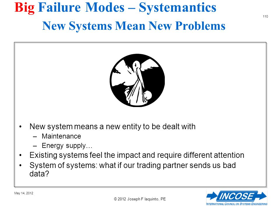 Big Failure Modes – Systemantics New Systems Mean New Problems