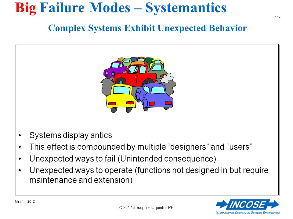 Big Failure Modes – Systemantics