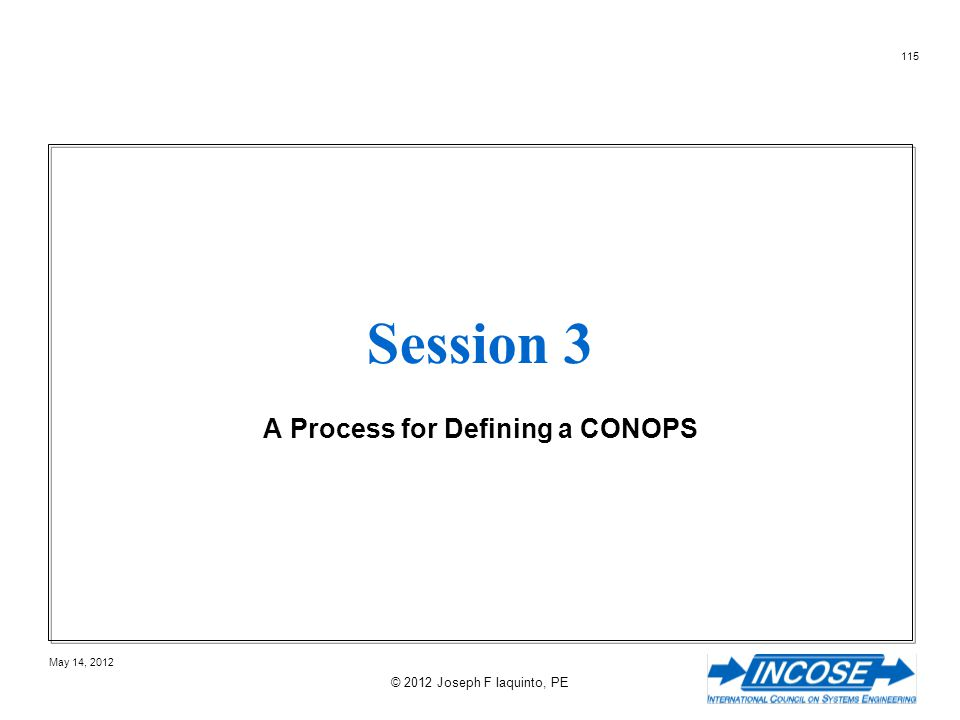 A Process for Defining a CONOPS