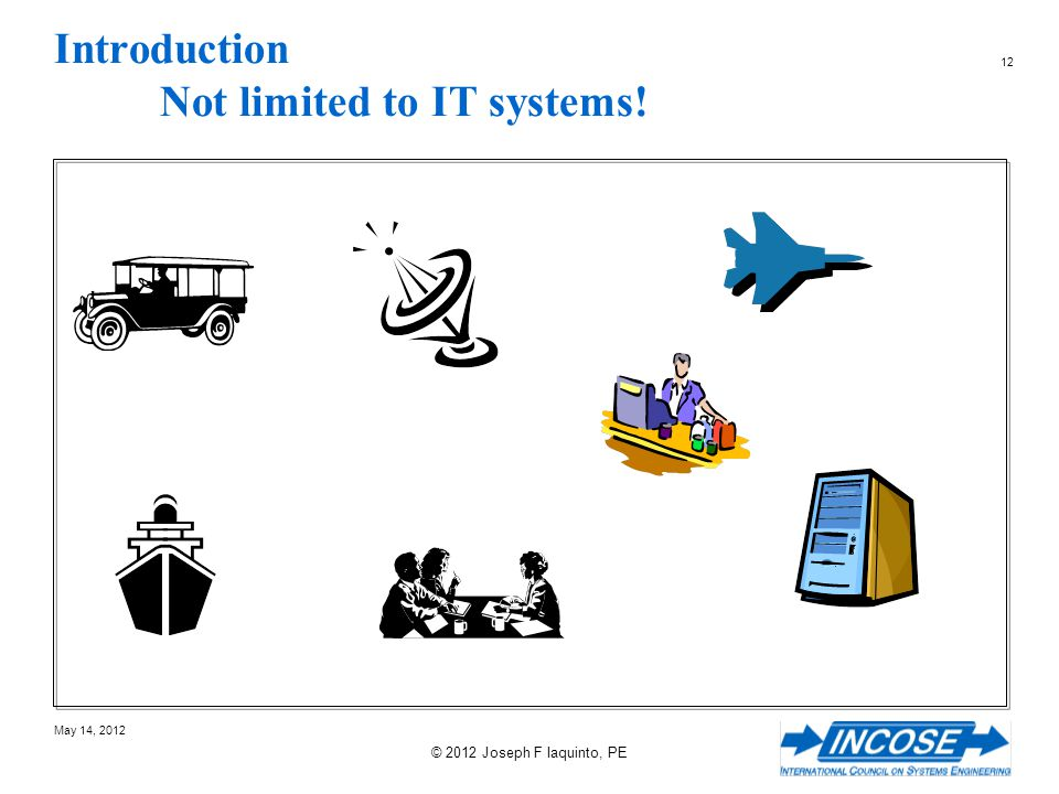 Introduction Not limited to IT systems!
