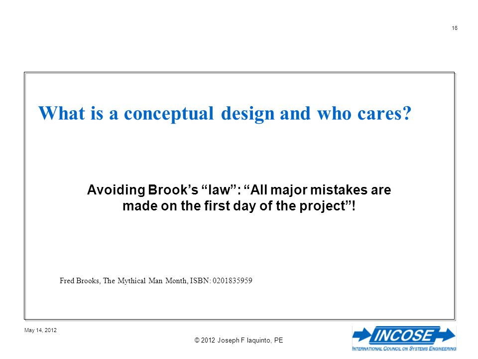 What is a conceptual design and who cares