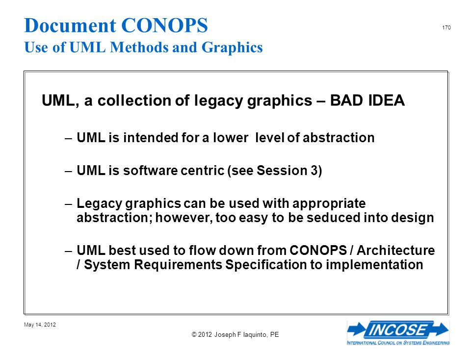 Document CONOPS Use of UML Methods and Graphics
