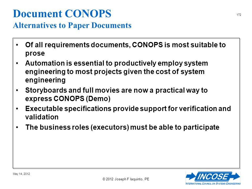 Document CONOPS Alternatives to Paper Documents