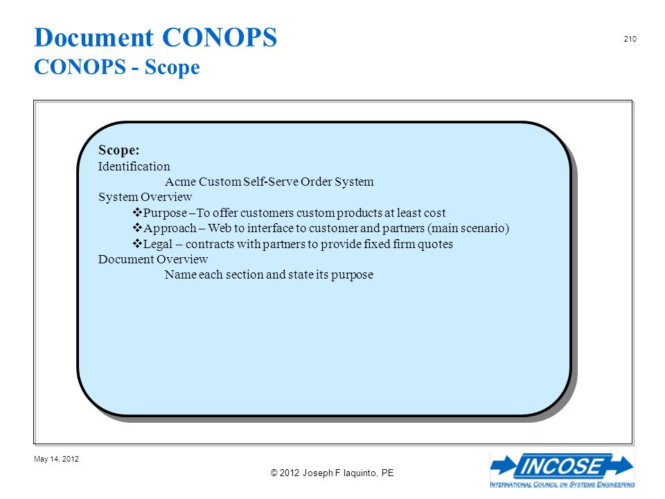 Document CONOPS CONOPS - Scope
