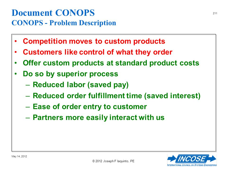 Document CONOPS CONOPS - Problem Description