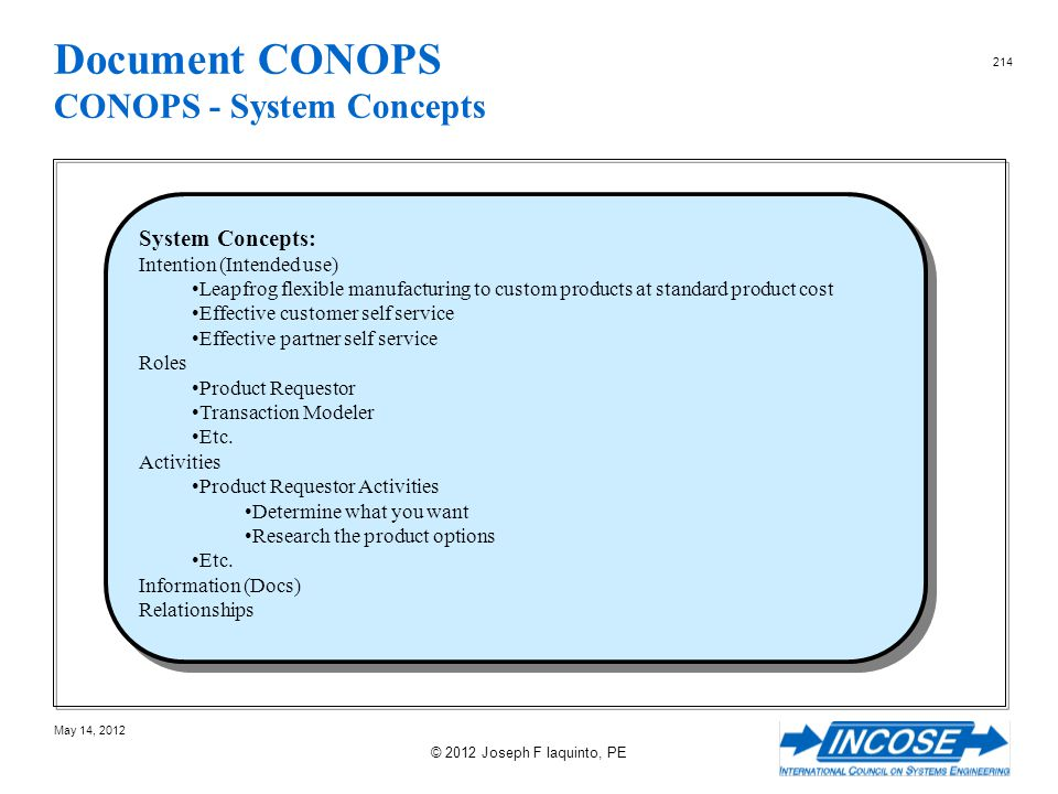 Document CONOPS CONOPS - System Concepts
