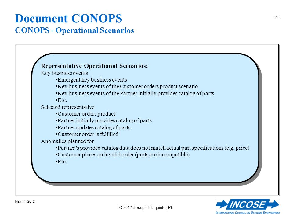 Document CONOPS CONOPS - Operational Scenarios