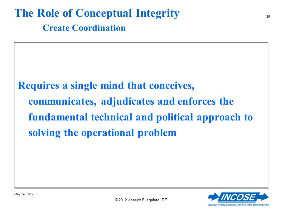 The Role of Conceptual Integrity Create Coordination