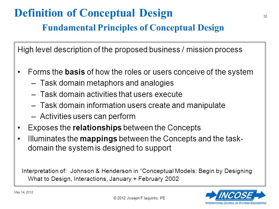 Definition of Conceptual Design