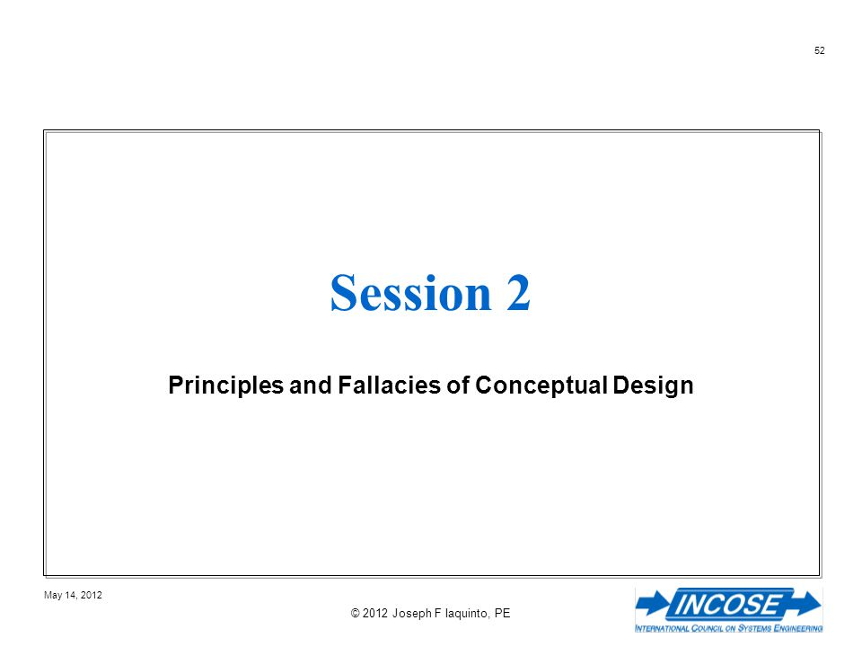 Principles and Fallacies of Conceptual Design