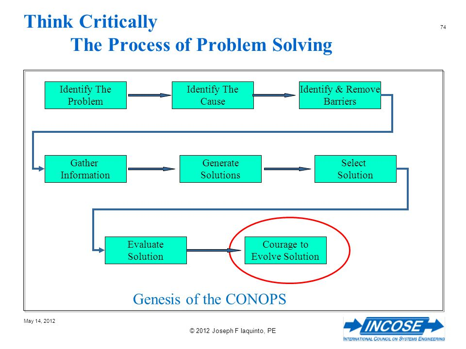 Think Critically The Process of Problem Solving