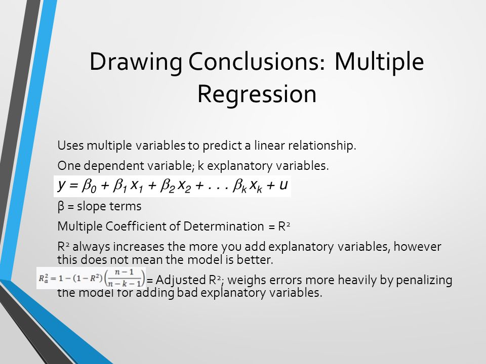 Drawing Conclusions: Multiple Regression