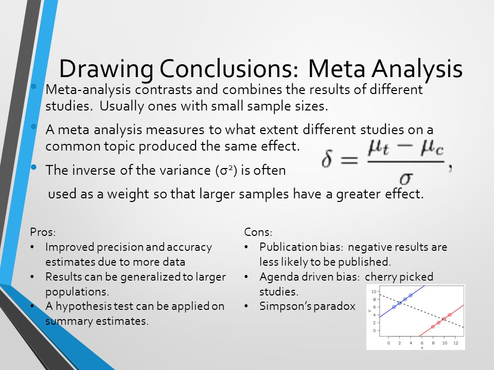 Drawing Conclusions: Meta Analysis