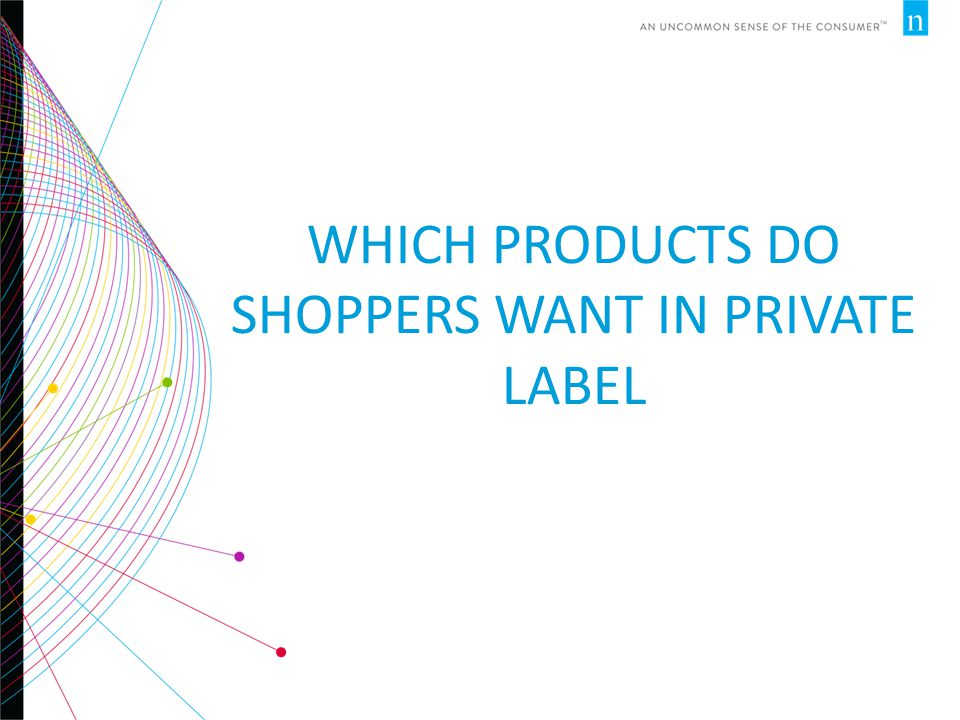 WHICH PRODUCTS DO SHOPPERS WANT IN PRIVATE LABEL
