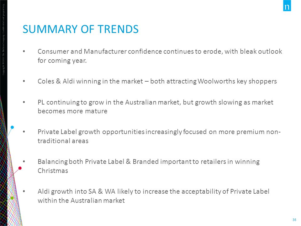 Summary of trends Consumer and Manufacturer confidence continues to erode, with bleak outlook for coming year.
