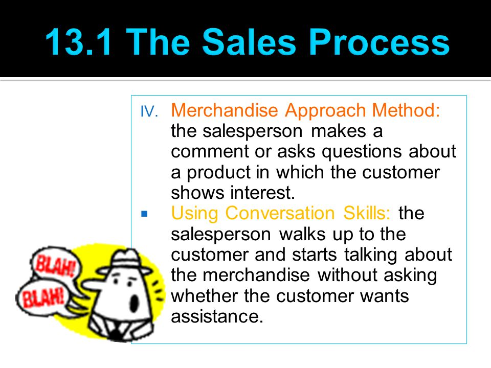 13.1 The Sales Process