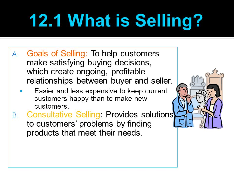 12.1 What is Selling