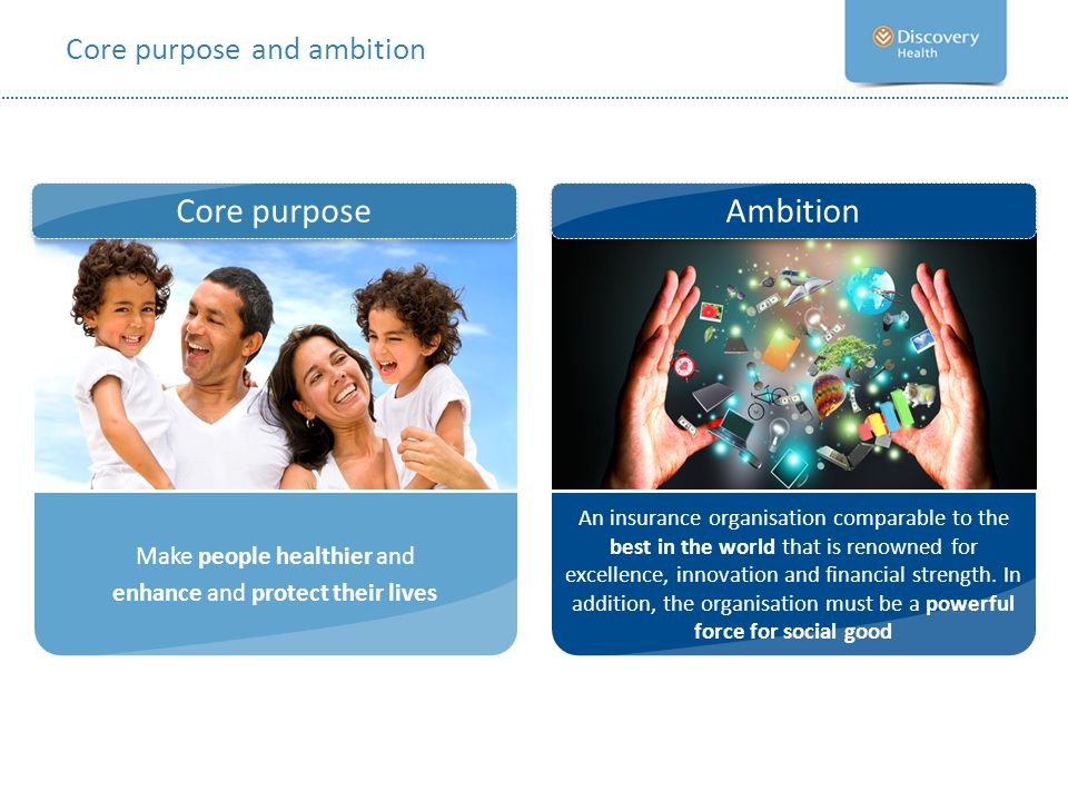 Core purpose and ambition