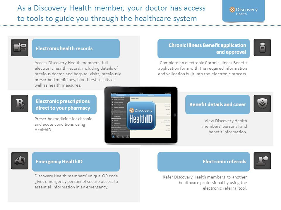 As a Discovery Health member, your doctor has access to tools to guide you through the healthcare system