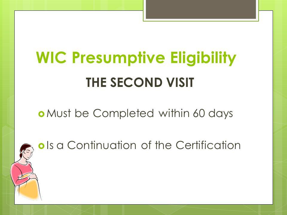 WIC Presumptive Eligibility